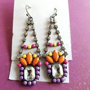 Jewelry - Bright rhinestone chandelier earrings dangle drop